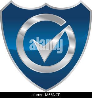 Global Security Logo Design Template Vector - Stock Photo