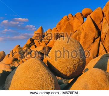 Balanced Rocks, Joshua Tree National Park, California - Stock Photo