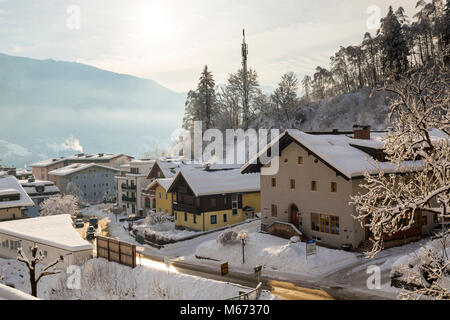 General view of Zell Am See in Austria - Stock Photo
