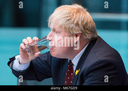 London, UK. 1st March, 2018. Boris Johnson MP, Secretary of State for Foreign and Commonwealth Affairs, appears - Stock Photo