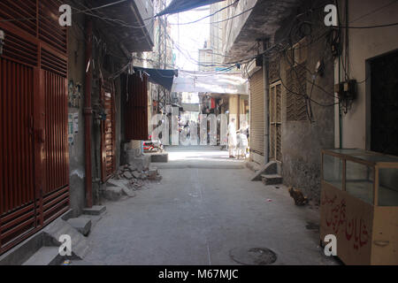 Street scene in Lahore, Pakistan. - Stock Photo