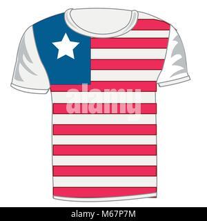 T-shirt flag Liberia - Stock Photo