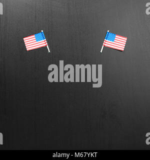 USA flag. American flag. American flag on black background - Stock Photo
