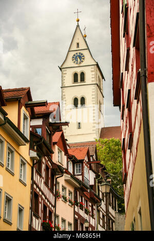 Meersburg picturesque streets, Bodensee, Germany - Stock Photo