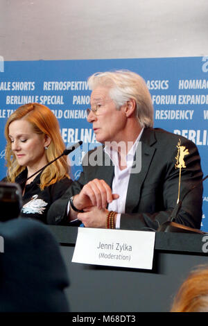 67th Berlin International Film Festival (Berlinale) - 'The Dinner' - Press Conference Featuring: Laura Linney, Richard - Stock Photo