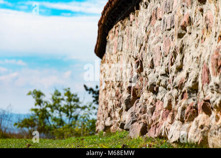 A big and old Wall at the Castle - Stock Photo