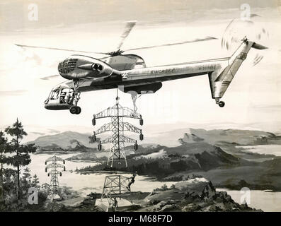Sikorsky S-62 helicopter model, USA 1950 - Stock Photo