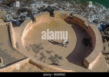 Kasbah of the Udayas and Atlantic Ocean, Rabat. Morocco - Stock Photo