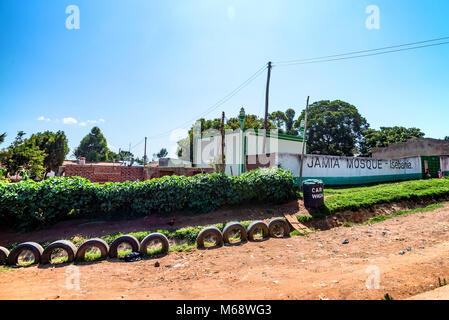 ISEBANIA, KENYA -JANUARY 3, 2015: View of Mosque in Isebania - Stock Photo