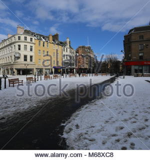 Dundee High Street in winter Dundee Scotland  March 2018 - Stock Photo