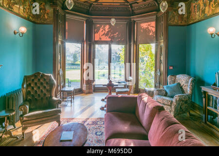 Insole Court is a Gothic Revival Mansion in Llandaff in Cardiff, Wales PHILLIP ROBERTS - Stock Photo