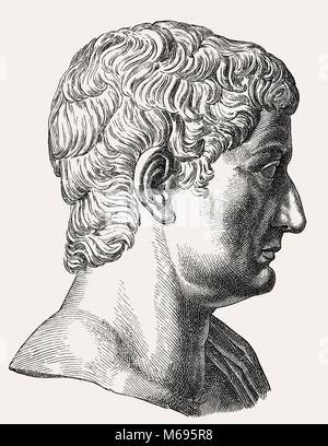 Claudius or Tiberius Claudius Caesar Augustus Germanicus, 10 BC - 54 AD, Roman emperor from 41 to 54, - Stock Photo