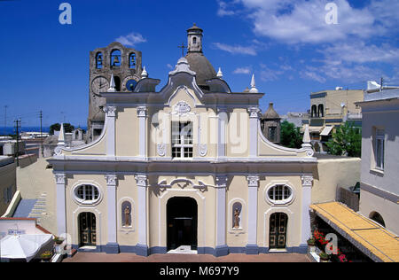 Anacapri, church Santa Sofia, Capri island, Italy, Europe - Stock Photo