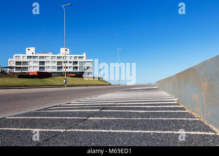The Rambla General Jose Artigas without cars and people at day time, Punta Del Este, Uruguay. - Stock Photo