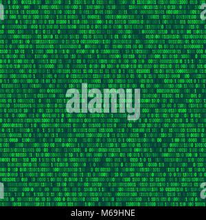 Binary computer code repeating vector background illustration. Continuous pattern left, right, up and down - Stock Photo