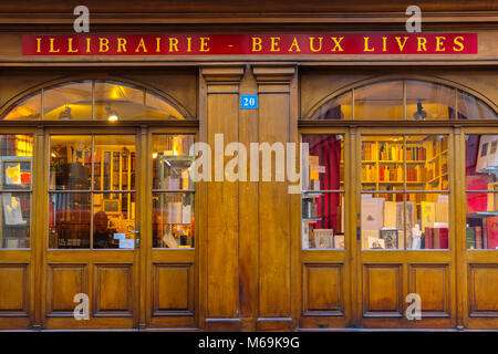Second hand bookstore with wooden facade, Grand Rue, historic center. Old town, Genève Suisse. Geneva. Switzerland - Stock Photo