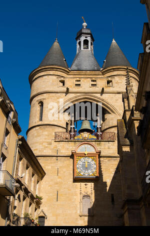 Grosse Cloche bell tower former St Eloi town gate, Bordeaux. New Aquitaine Region, Gironde Department. France Europe - Stock Photo