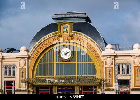 Train station, Rochefort, Charente- Maritime, Poitou Charentes, France, Europe - Stock Photo