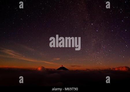 asia, Indonesia, Java, volcanoe im Bromo-Semeru Nationalpark, Sternenhimmel, - Stock Photo