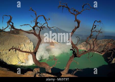 asia, Indonesia, Java, volcanoe im Bromo-Semeru Nationalpark, Ijen, - Stock Photo