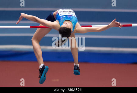 Birmingham, UK. 2nd Mar, 2018. 1st March, 2018. IAAF World Indoor Championships in Athletics: Mariya Lasitskene - Stock Photo