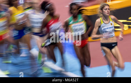Birmingham, UK. 2nd Mar, 2018. 1st March, 2018. IAAF World Indoor Championships in Athletics: Konstanze Klosterhalfen - Stock Photo