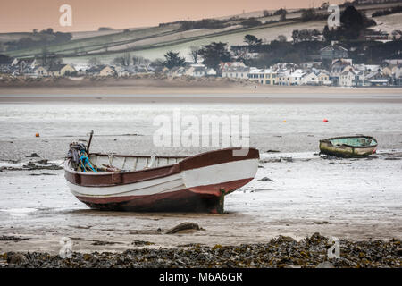 Instow, Devon. 2nd Mar, 2018. UK Weather - As the  North Devon coast is hit by severe gales and freezing rain over - Stock Photo