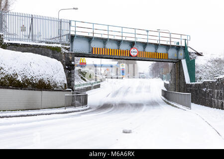 Ireland weather. Cold and snow in Killarney, County Kerry,Ireland since the town has been hit by 'The beast from - Stock Photo