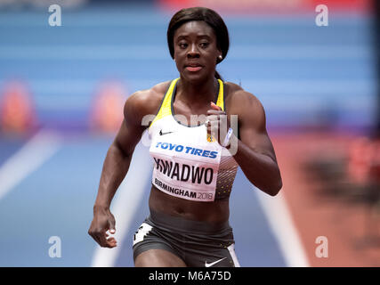 Birmingham, UK. 2nd Mar, 2018. IAAF World Indoor Championships in Athletics: Yasim Kwadwo of Germany in action during - Stock Photo