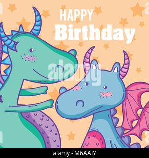 Happy birthday monster card stock vector art illustration vector happy birthday card cute cartoons stock photo bookmarktalkfo Images