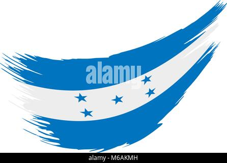 Honduras flag, vector illustration - Stock Photo