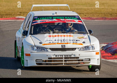 Chris West and Keith Hounslow in their Peugeot 306 Maxi Kit Car ...