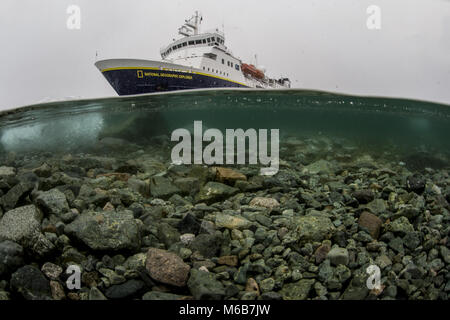 National Geographic Explorer in Antarctica - Stock Photo
