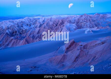 Salt formations at Valle de la Luna (spanish for Moon Valley), also know as Cordillera de la Sal (spanish for Salt - Stock Photo