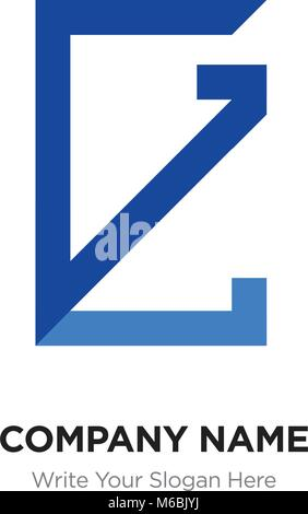 Lg Letters Vector Business Logo Sign Symbol Monogram Icon Stock