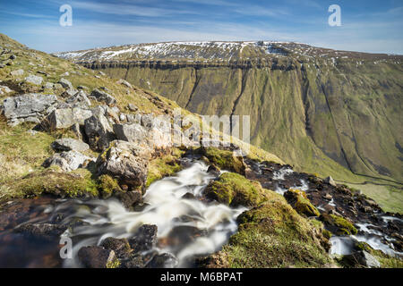 Stream running down High Cup Nick into Highcup Gill Beck, Eden Valley, Cumbria, England - Stock Photo