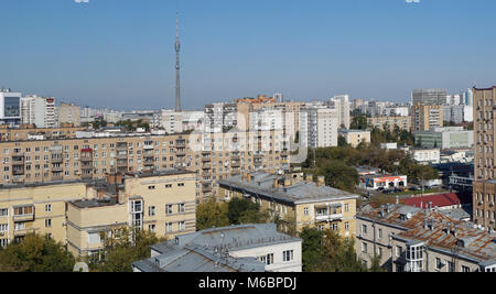 RUSSIA ,MOSCOW- SEPTEMBER 23, 2017: Unknown rusty roofs of the central residential area of the Russian capital. - Stock Photo