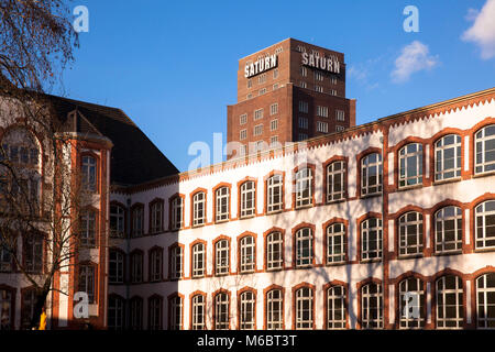 Germany, Cologne, the Hansa Gymnasium (back side) and the Hansa high-rise building at the street Hansaring.  Deutschland, - Stock Photo