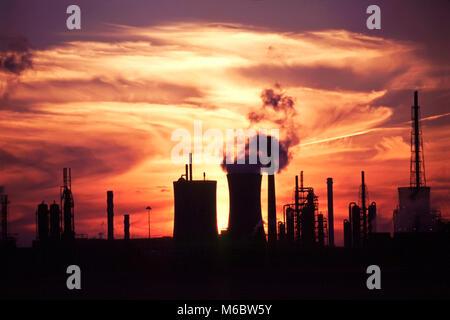 Industrial skyline, Middlesbrough, England, UK - Stock Photo