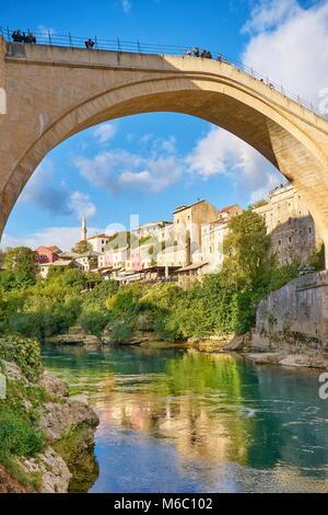 Mostar - Stari Most or Old Bridge, Bosnia and Herzegovina - Stock Photo