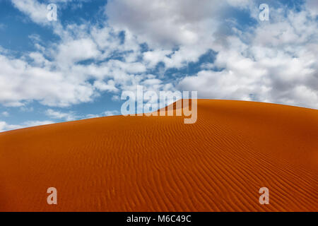 The red sand dunes of Merzouga. Morocco. - Stock Photo