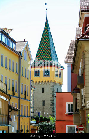 Lindau  picturesque streets, Bodensee, Germany - Stock Photo