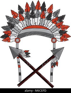 native american icon image  - Stock Photo