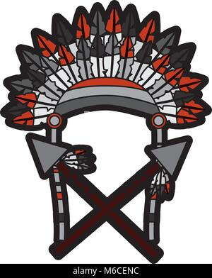 headdress native american icon image  - Stock Photo