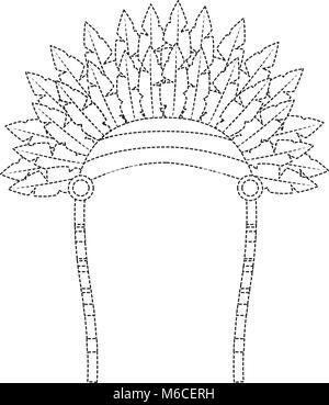 headdress native american icon image  - Stock Photo