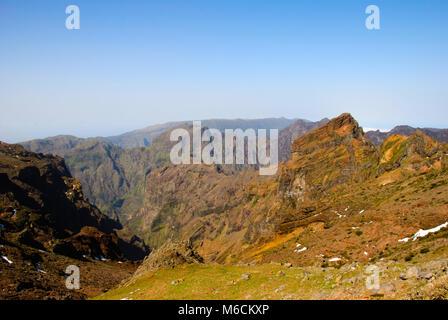 Mountains around Pico Arieiro, central Madeira, Portugal - Stock Photo