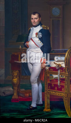 Emperor Napoleon in His Study at the Tuileries, Jacques-Louis David, 1812, National Gallery of Art, Washington DC, - Stock Photo