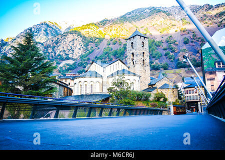 Sant Esteve church in Andorra la Vella, Andorra - Stock Photo