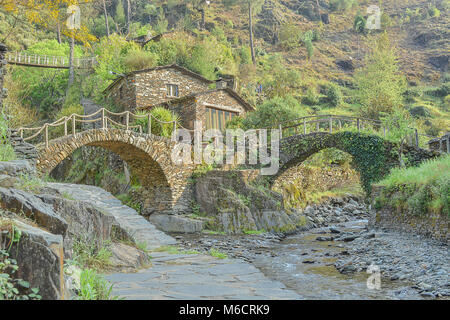 Mountain Village Portugal Piodao Rustic And Touristic Old Stone Houses