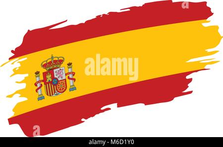 spain flag, vector illustration - Stock Photo